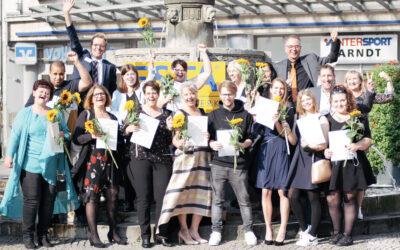 Herzliche Gratulation – Jubel nach drei Jahren erfolgreicher Ausbildung!